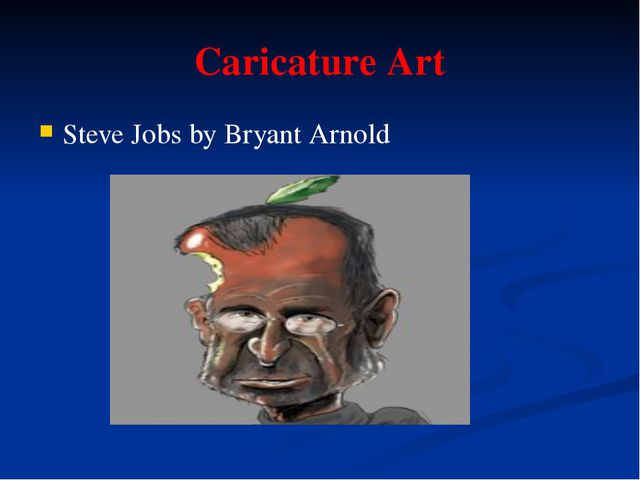 Caricature Art Steve Jobs by Bryant Arnold