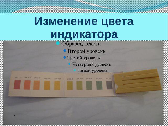Изменение цвета индикатора