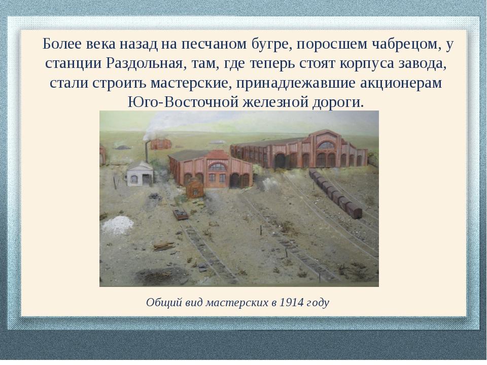 Более века назад на песчаном бугре, поросшем чабрецом, у станции Раздольная,...