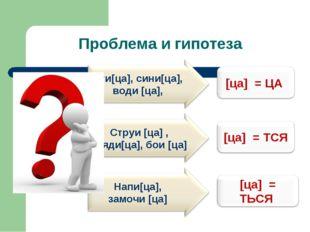 Проблема и гипотеза