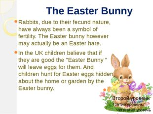 The Easter Bunny Rabbits, due to their fecund nature, have always been a sym