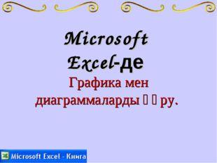 Microsoft Excel-де Графика мен диаграммаларды құру.