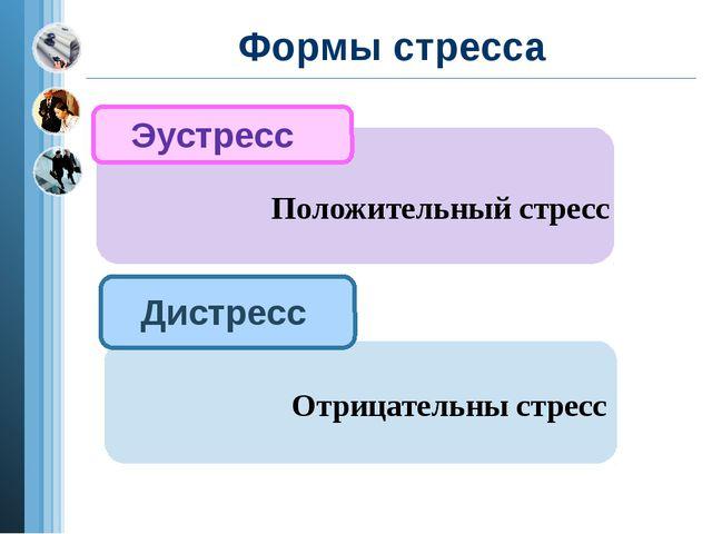 Формы стресса Эустресс Дистресс Положительный стресс Отрицательны стресс Cont...