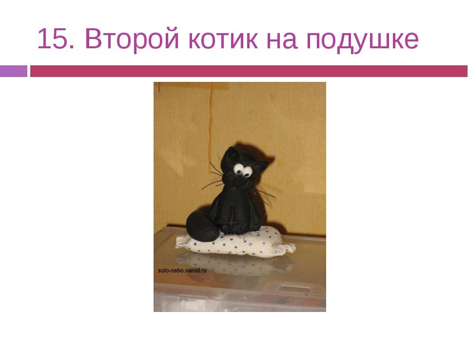 15. Второй котик на подушке