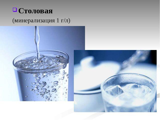 Столовая (минерализация 1 г/л)