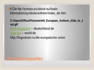Informationsquellen h Die ttp://europa.eu/about-eu/basic-information/symbols/