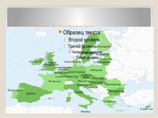 Die Länder – Mitglieder der Europäischen Union.