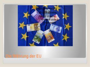 Die Währung der EU