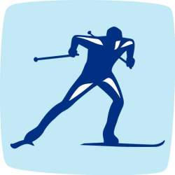 Лыжные гонки. Пиктограмма.