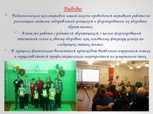 Выводы: Педагогическим коллективом нашей школы проводится активная работа по
