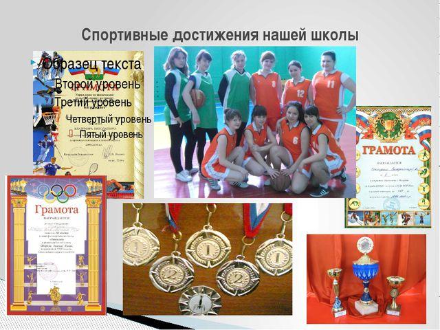 Спортивные достижения нашей школы