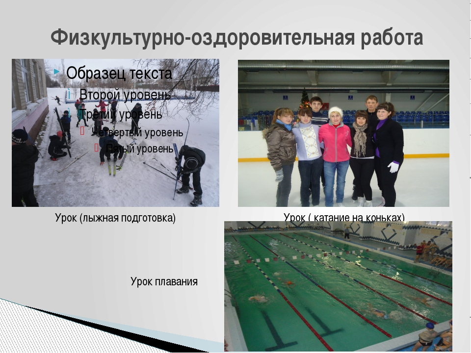 Физкультурно-оздоровительная работа Урок (лыжная подготовка) Урок ( катание н...