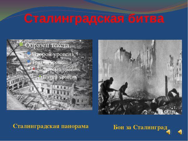 Сталинградская битва Сталинградская панорама Бои за Сталинград