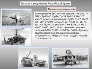 Техника и вооружение Российской Армии Военно-воздушные силы На вооружении ВВС