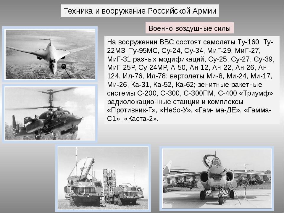 Техника и вооружение Российской Армии Военно-воздушные силы На вооружении ВВС...