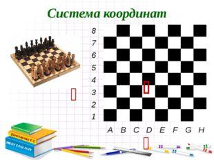 Система координат Белозерова Е.С. МБОУ СОШ №28    A B C D E F G H 8 7 6 5