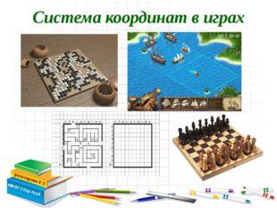 Система координат в играх Белозерова Е.С. МБОУ СОШ №28