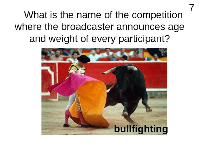 What is the name of the competition where the broadcaster announces age and...