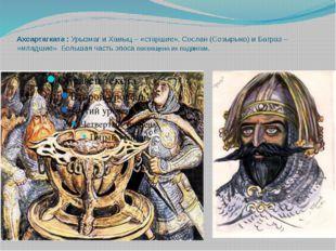 Ахсартагката : Урызмаг и Хамыц – «старшие», Сослан (Созырыко) и Батраз – «мла
