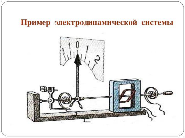 Пример электродинамической системы