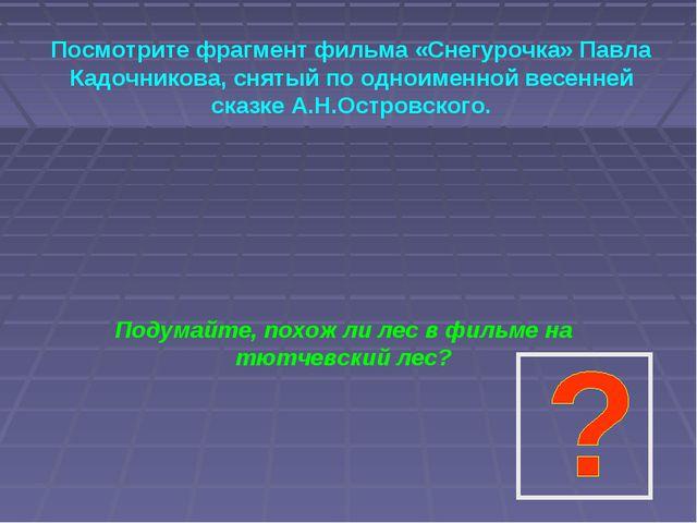 Посмотрите фрагмент фильма «Снегурочка» Павла Кадочникова, снятый по одноимен...