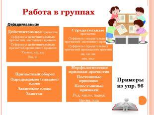 Работа в группах Примеры из упр. 96