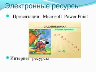 Электронные ресурсы Презентации Microsoft Power Point Интернет ресурсы