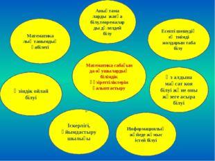 Математика сабағын да оқушылардың білімдік құзіреттіліктерін қалыптастыру Есе