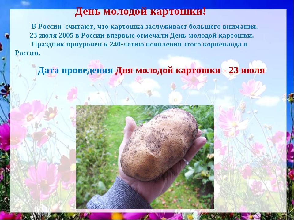 День молодой картошки! В России считают, что картошка заслуживает большего в...