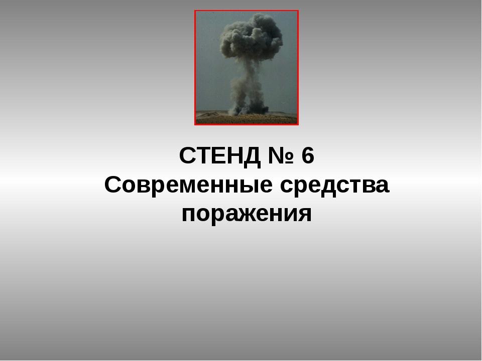 СТЕНД № 6 Современные средства поражения