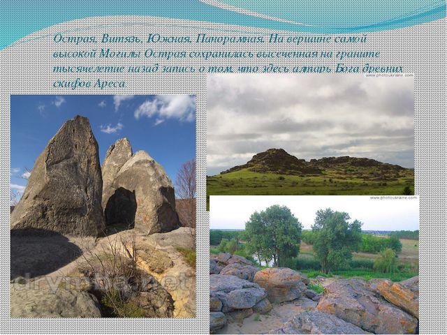 Острая, Витязь, Южная, Панорамная. На вершине самой высокой Могилы Острая сох...