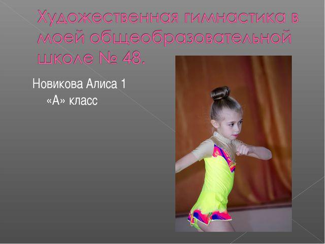 Новикова Алиса 1 «А» класс