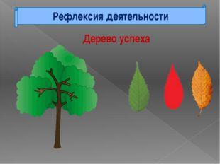 Рефлексия деятельности Дерево успеха