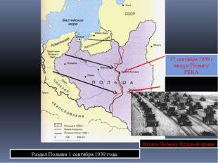 Раздел Польши 1 сентября 1939 года. 17 сентября 1939 г ввод в Польшу РККА Вхо