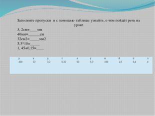 Заполните пропуски и с помощью таблицы узнайте, о чём пойдёт речь на уроке 3,
