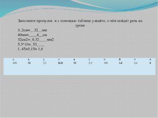 Заполните пропуски и с помощью таблице узнайте, о чём пойдёт речь на уроке 3,