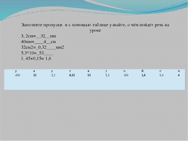 Заполните пропуски и с помощью таблице узнайте, о чём пойдёт речь на уроке 3,...
