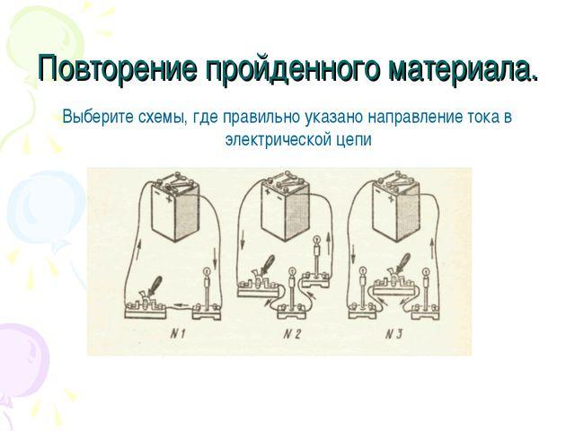 Повторение пройденного материала. Выберите схемы, где правильно указано напра...