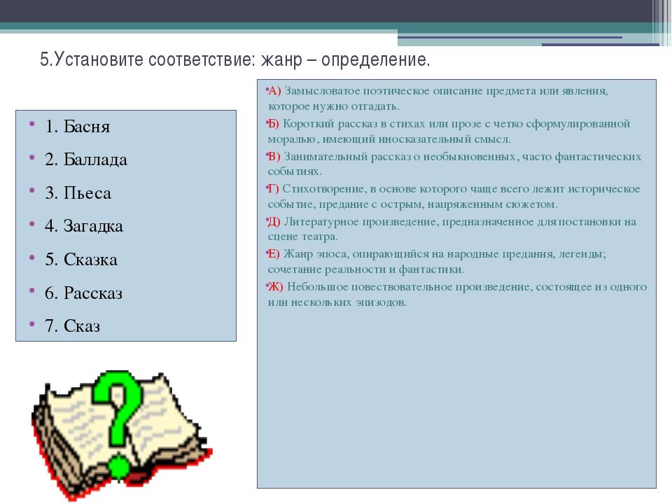 Контрольная работа по литературе класс четверть ru Контрольная по литературе баллады