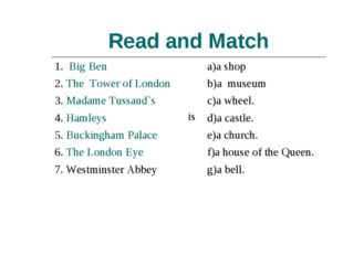 Read and Match