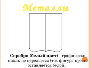 Металлы Серебро (белый цвет)- графически никак не передается (т.е. фигура пр