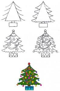 Как рисовать Новогоднюю елку
