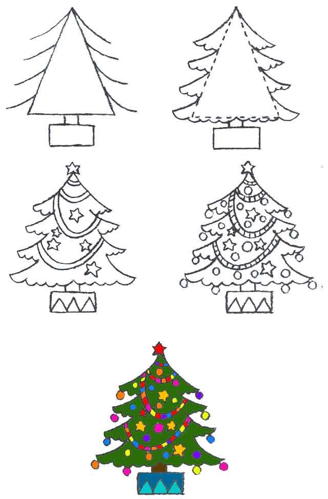 Изо 2 класс новогодний рисунок
