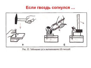 Если гвоздь согнулся … Для этого применяем клещи или молоток с прорезью. Чтоб