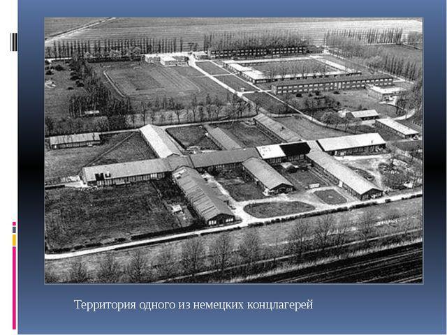 Территория одного из немецких концлагерей