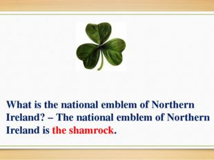 What is the national emblem of Northern Ireland? – The national emblem of Nor