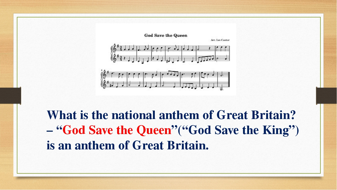 "What is the national anthem of Great Britain? – ""God Save the Queen""(""God Sav..."