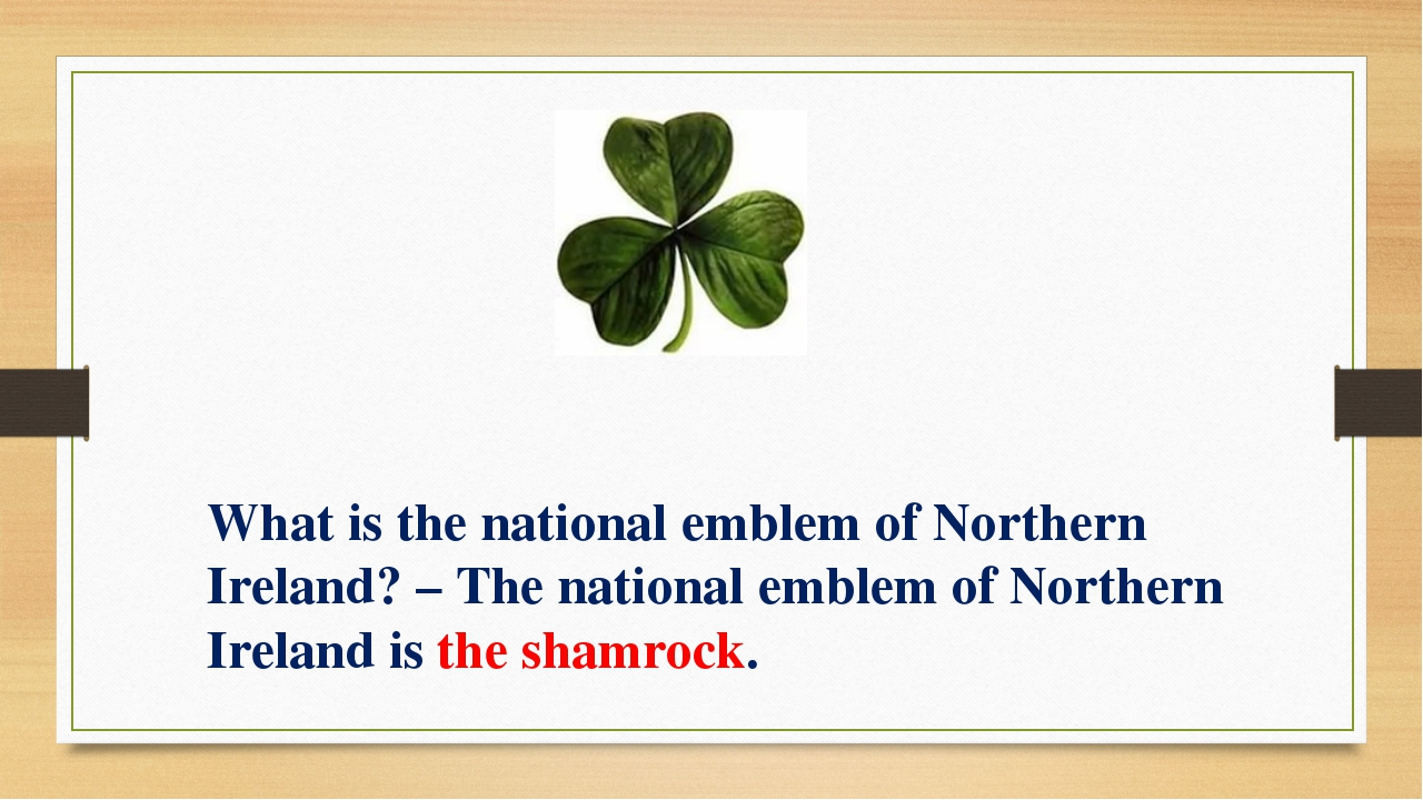What is the national emblem of Northern Ireland? – The national emblem of Nor...