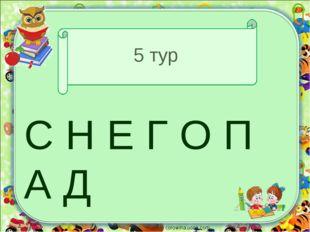 5 тур С Н Е Г О П А Д corowina.ucoz.com