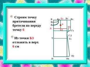 В В3 В1 В2 В4 В5 Г Г 2 Г1 Б1 Б3 Б Б2 Н Н1 Н2 6 Строим точку притачивания бре